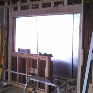 Kitchen window installation