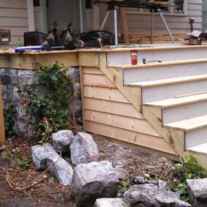 Porch Stair Construction