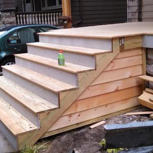Wooden Porch Stair Construction